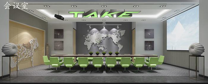 广告制作公司办公室会议室装修设计效果图