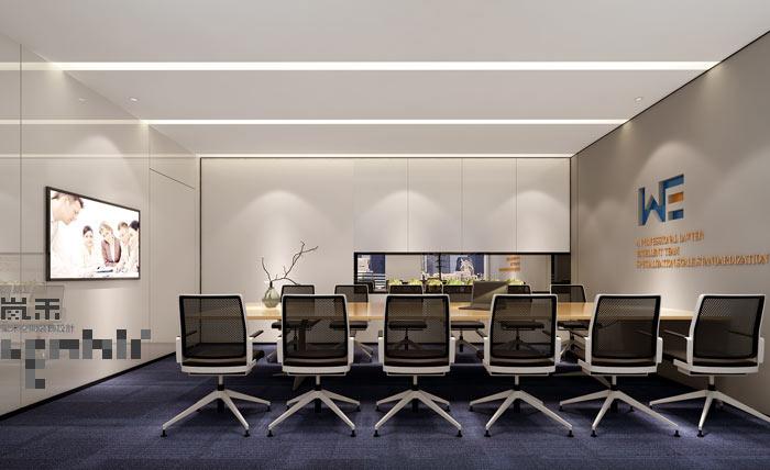 极简办公室会议室装修设计效果图