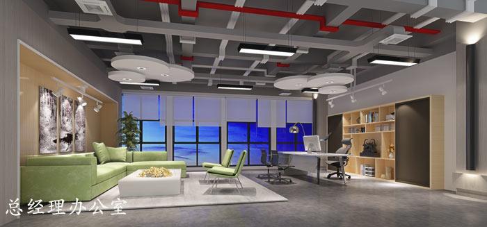 电子商务外包公司总经理办公室装修设计效果图