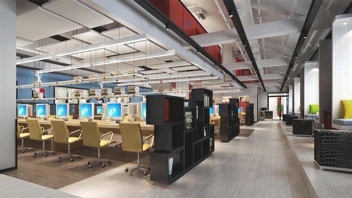 文化传播公司办公室装修设计案例