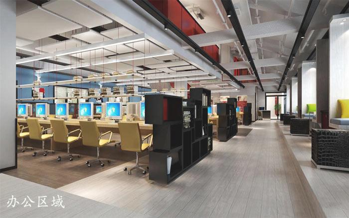 文化传播公司办公室前台装修设计效果图