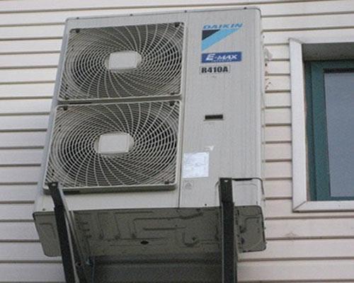 中央空调室外机安装效果图