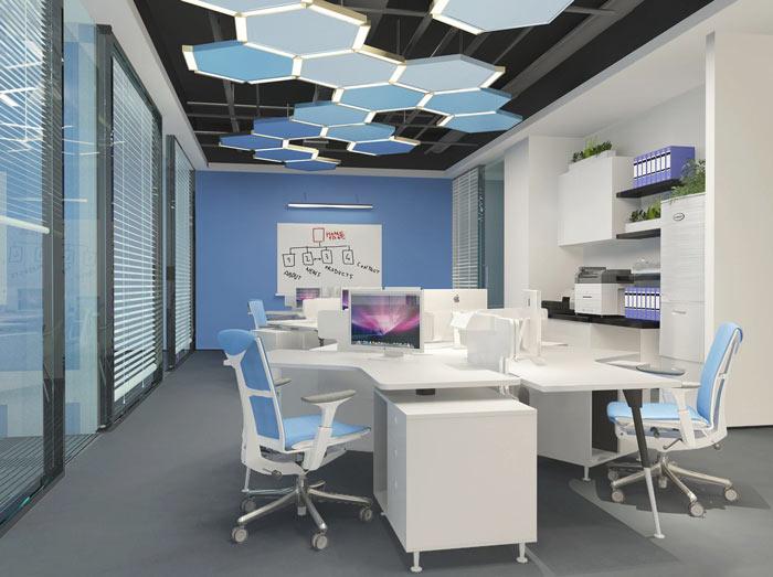 生物科技公司办公室装修设计案例