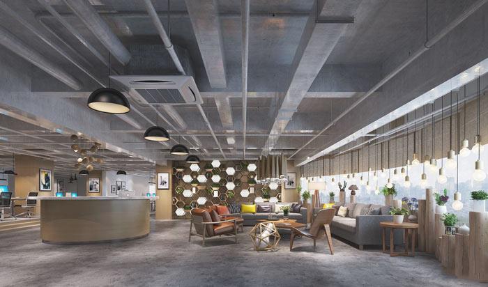 垂直电子商务办公室装修设计案例