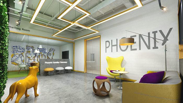 传媒学院办公室装修设计案例