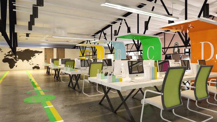 1100平方工业风办公室装修设计案例