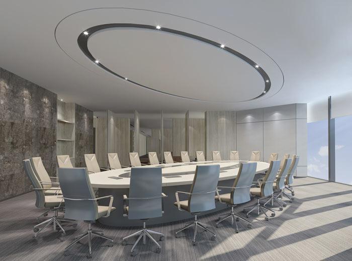 能源公司办公室会议室设计方案效果图