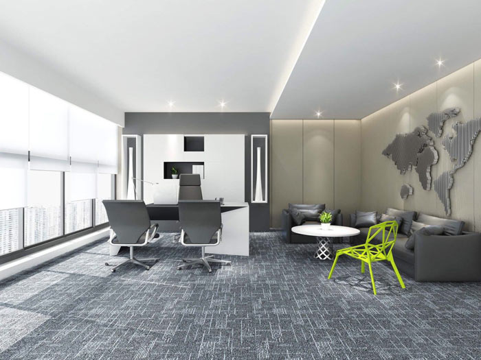 能源公司总经理办公室设计方案效果图