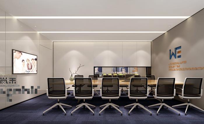 律师事务所办公室会议室设计案例效果图