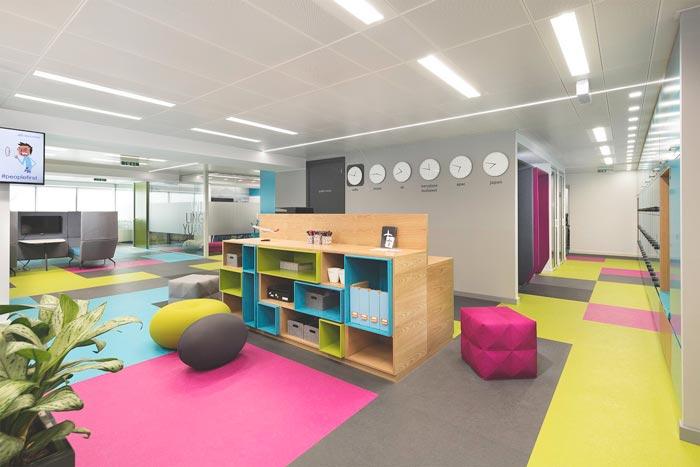 网络技术公司办公室装修设计案例