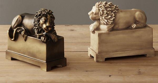 木雕狮子摆件效果图