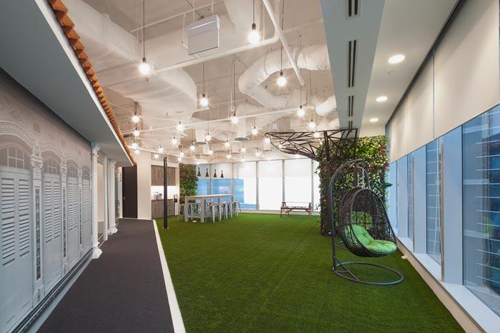 在线旅游公司办公室装修设计案例