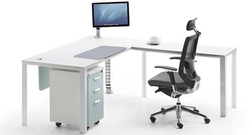 办公桌成品效果图