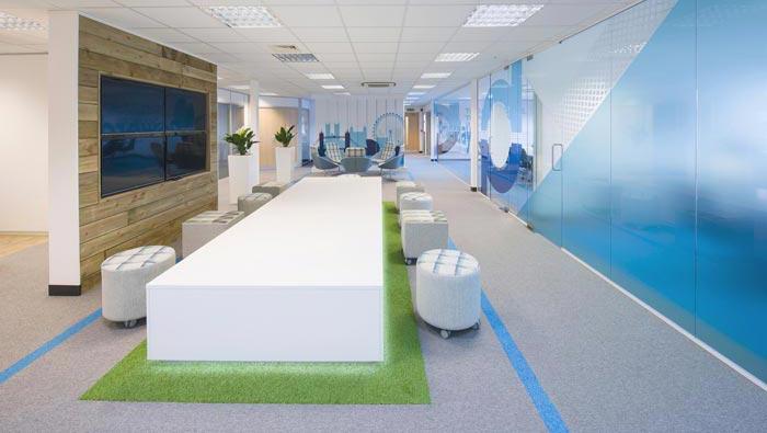 新能源科技公司办公室装修设计案例