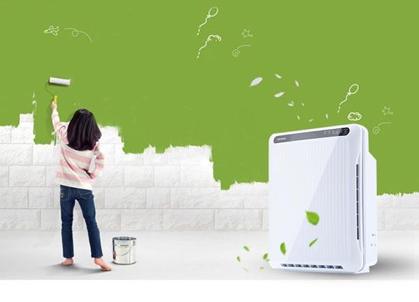 室内空气净化器效果图