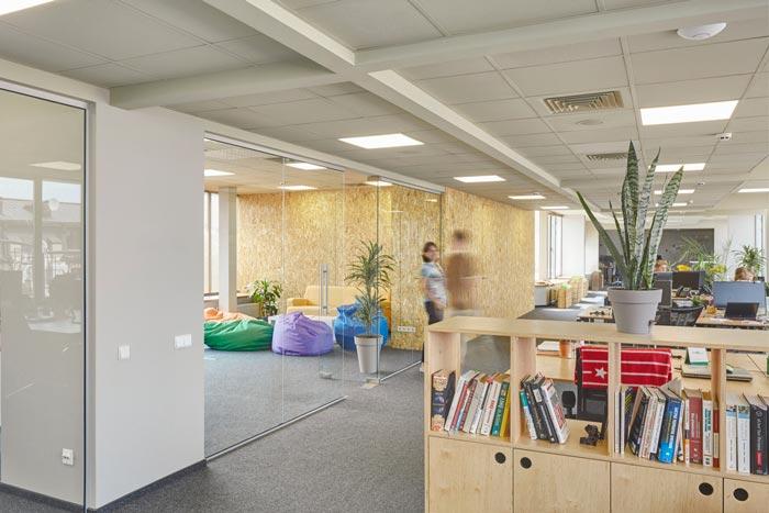 网络安全公司办公室装修设计案例