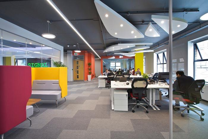 通信科技公司办公室装修设计案例