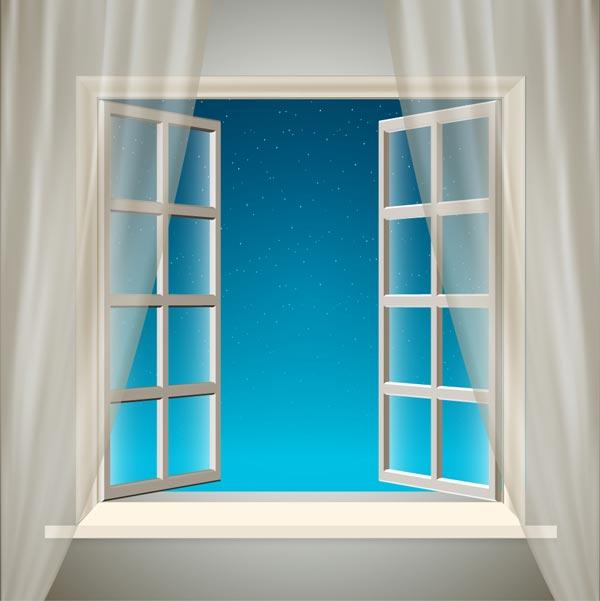 开窗通风效果图