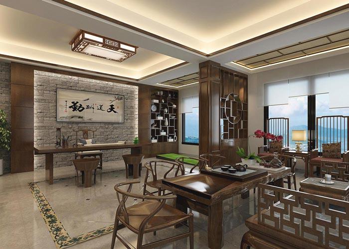 新中式风格办公室装修设计案例