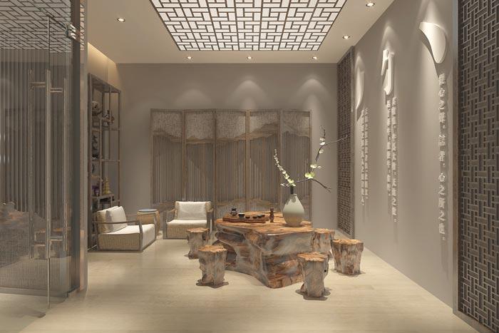 中式风格办公室装修设计案例