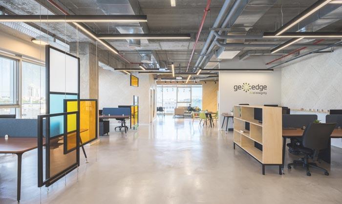 网络安全服务公司办公室装修设计案例