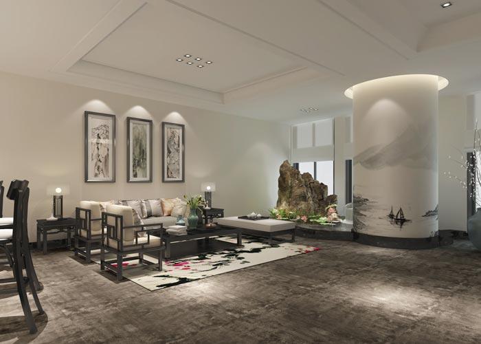新中式贸易公司办公室装修设计案例
