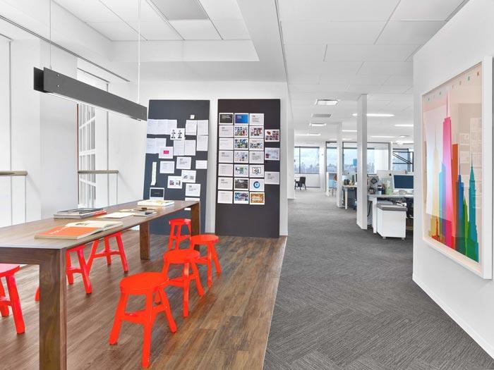 通信服务公司办公室装修设计案例