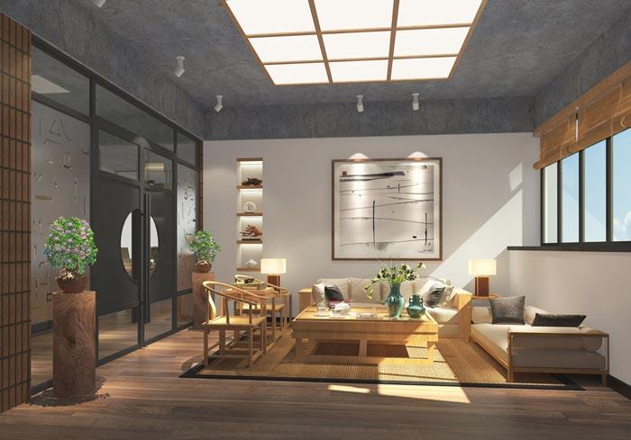 现代中式风格办公室装修设计案例