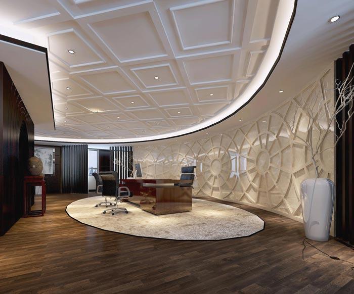 中式风格房地产公室装修设计案例