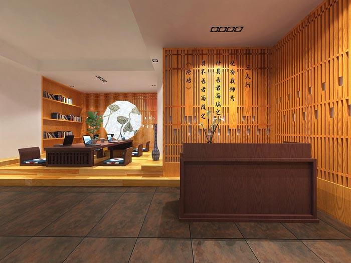 中式租赁托管办公室装修设计案例