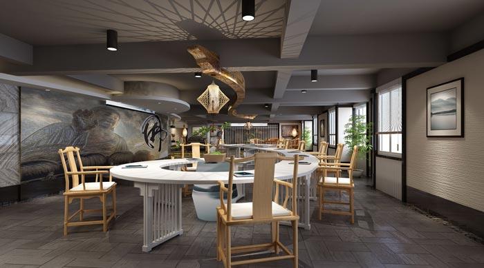 新中式禅意办公室装修设计案例