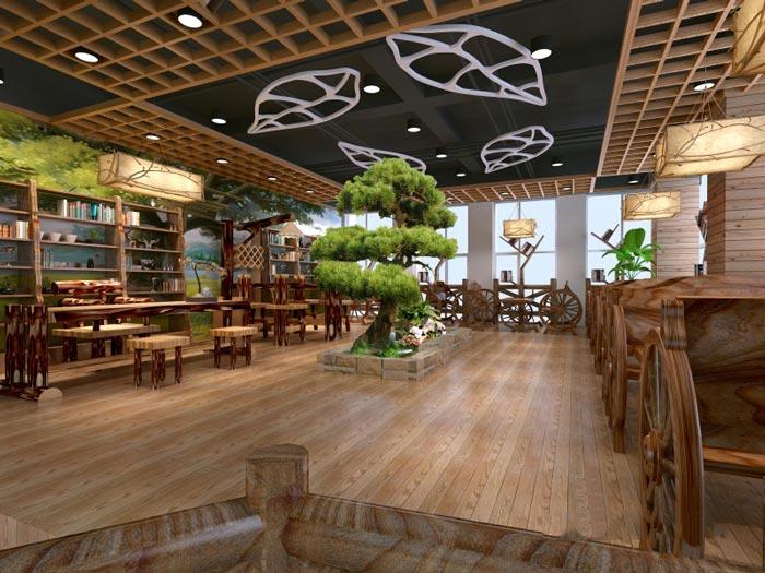 中式自然风格办公室装修设计案例