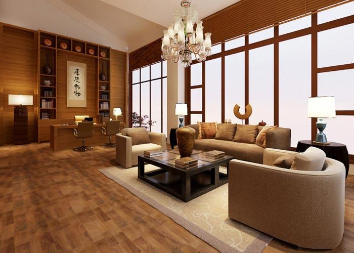 中式简约风格办公室装修设计案例