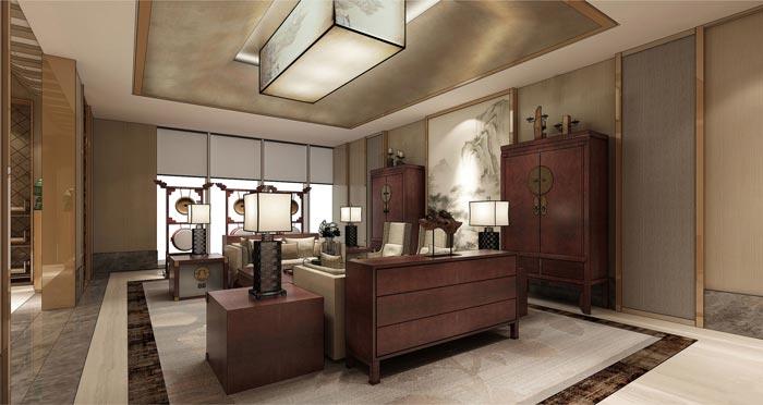 中式后现代风格办公室装修设计案例