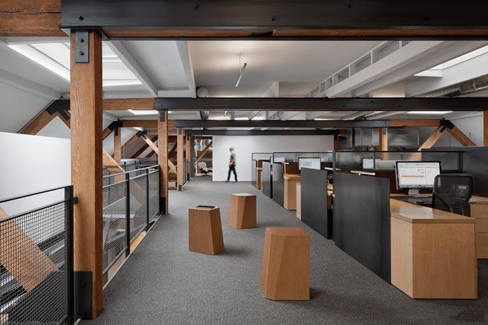 480平方两层办公室装修实景图
