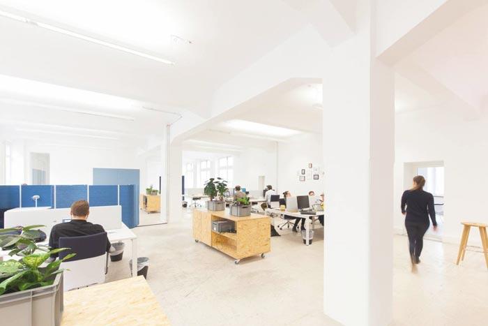 400平方数字营销公司办公室办公区域装修设计实景图