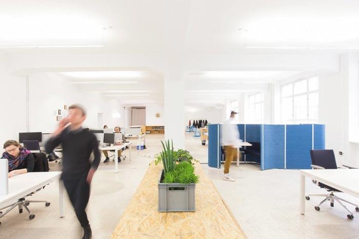 400平方数字营销公司办公室办公区装修设计实景图