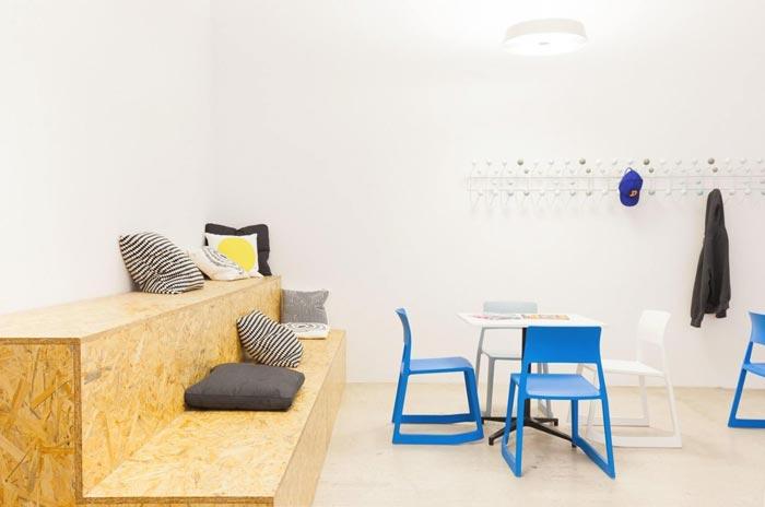 400平方数字营销公司办公室休息区域装修设计实景图