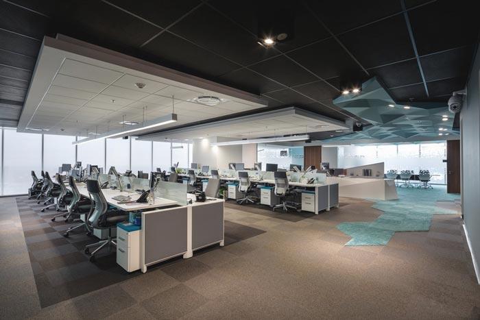 货运公司办公室办公区域装修设计案例效果图