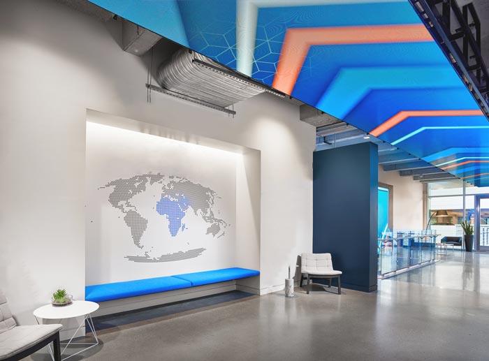 招聘信息服务公司办公室装修设计案例