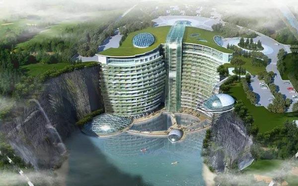 上海深坑酒店效果图