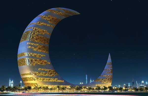 迪拜新月塔效果图
