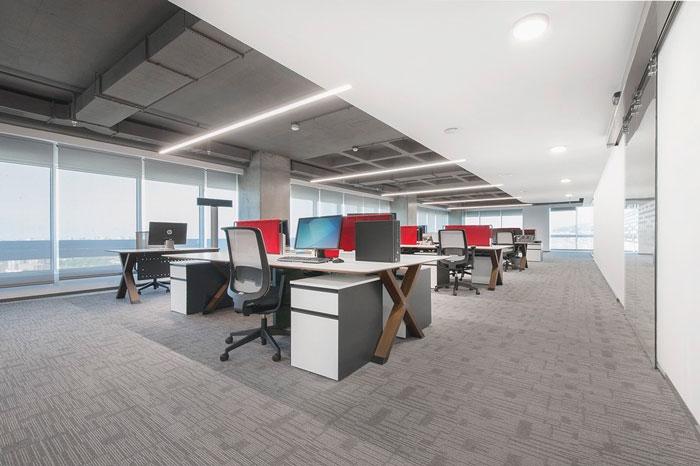 金融信息公司办公室装修设计效果图