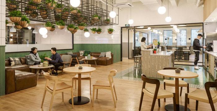 联合办公咖啡厅效果图