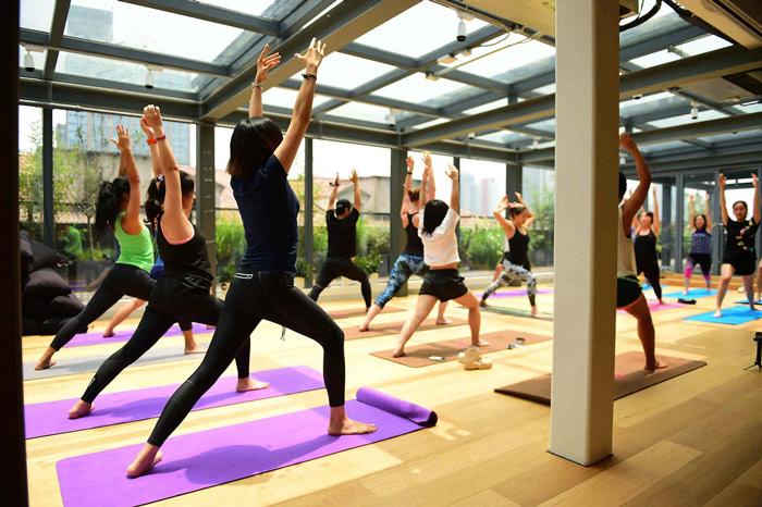 联合办公瑜伽区域效果图