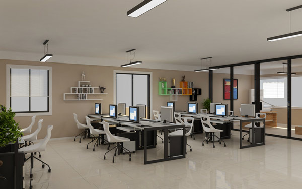 免费办公室设计效果图