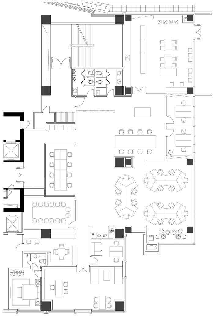 设计公司办公室设计方案平面图