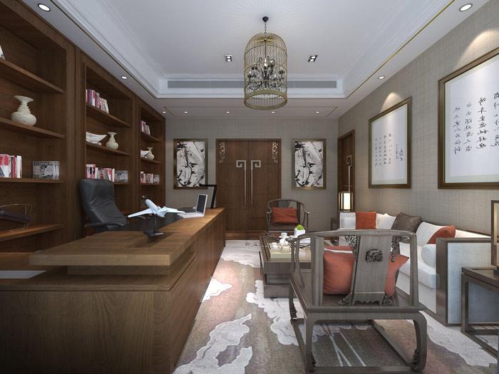 新中式风格办公室设计方案