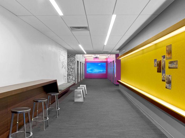 办公室过道文化墙设计效果图
