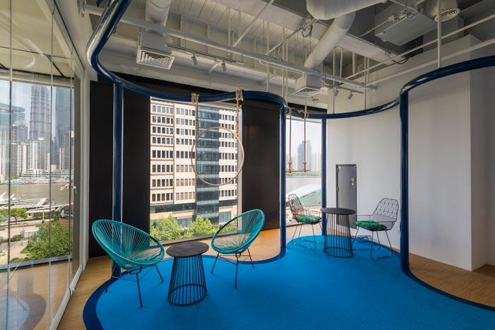 旅游服务公司办公室装修设计案例